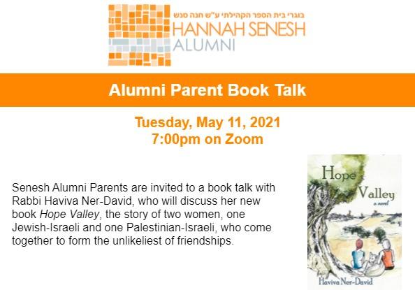 Senesh BookTalk Header 1